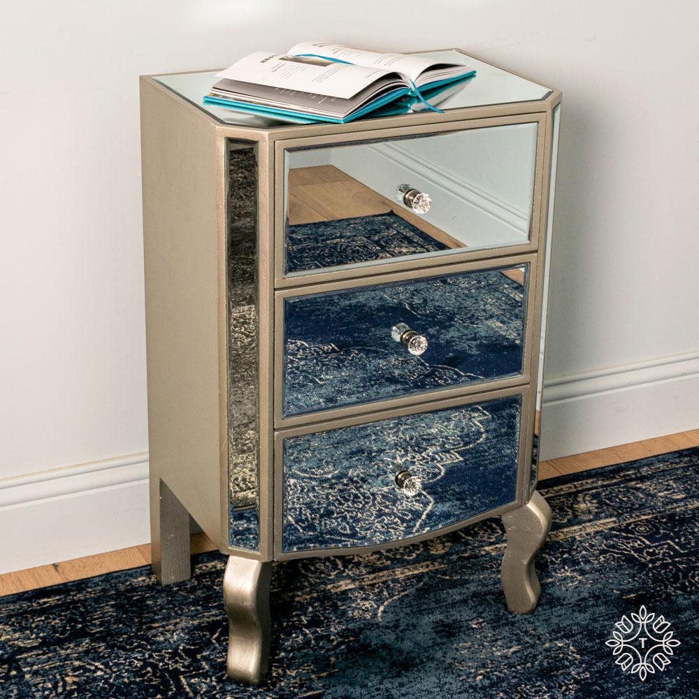 Reflections locker 3 drawer curved leg