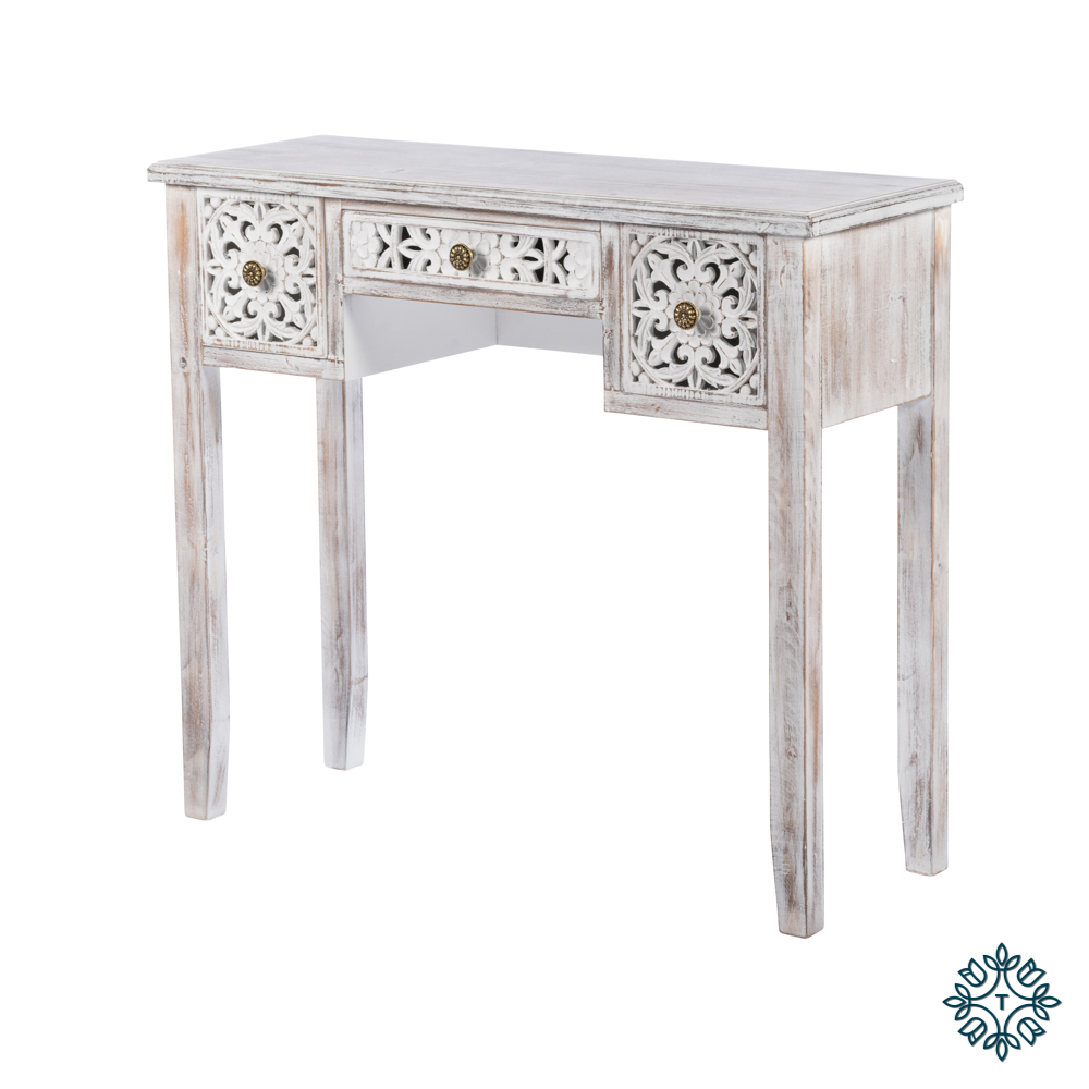 Jessie console table antique white