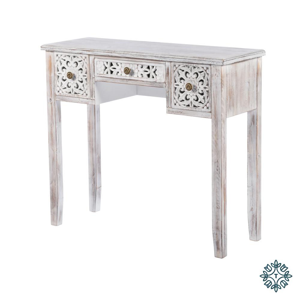 Jessie console table antique white