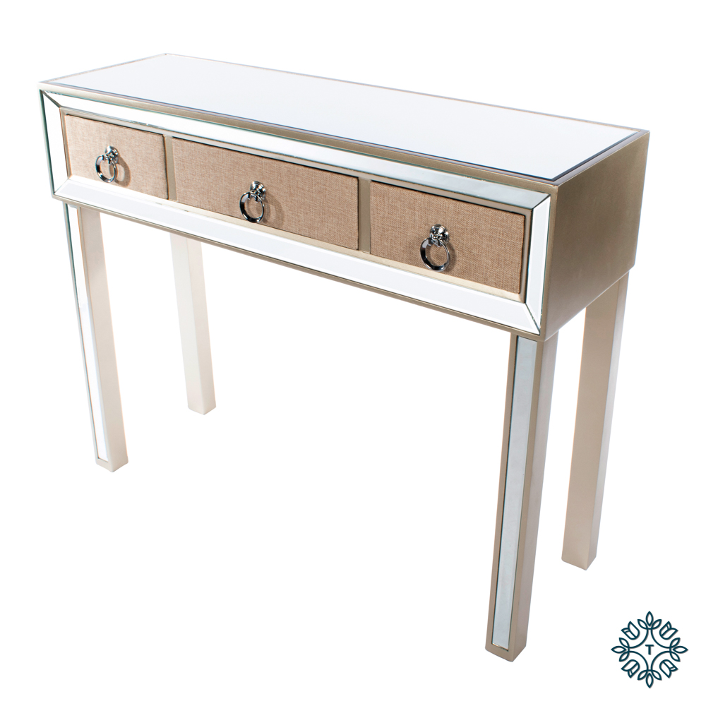 Hayden mirrored console 3 drawer