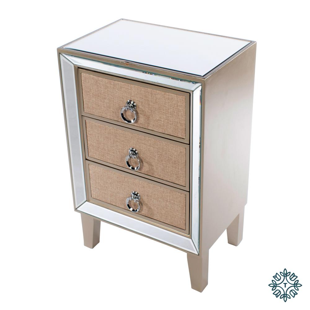 Hayden mirrored locker 3 drawer
