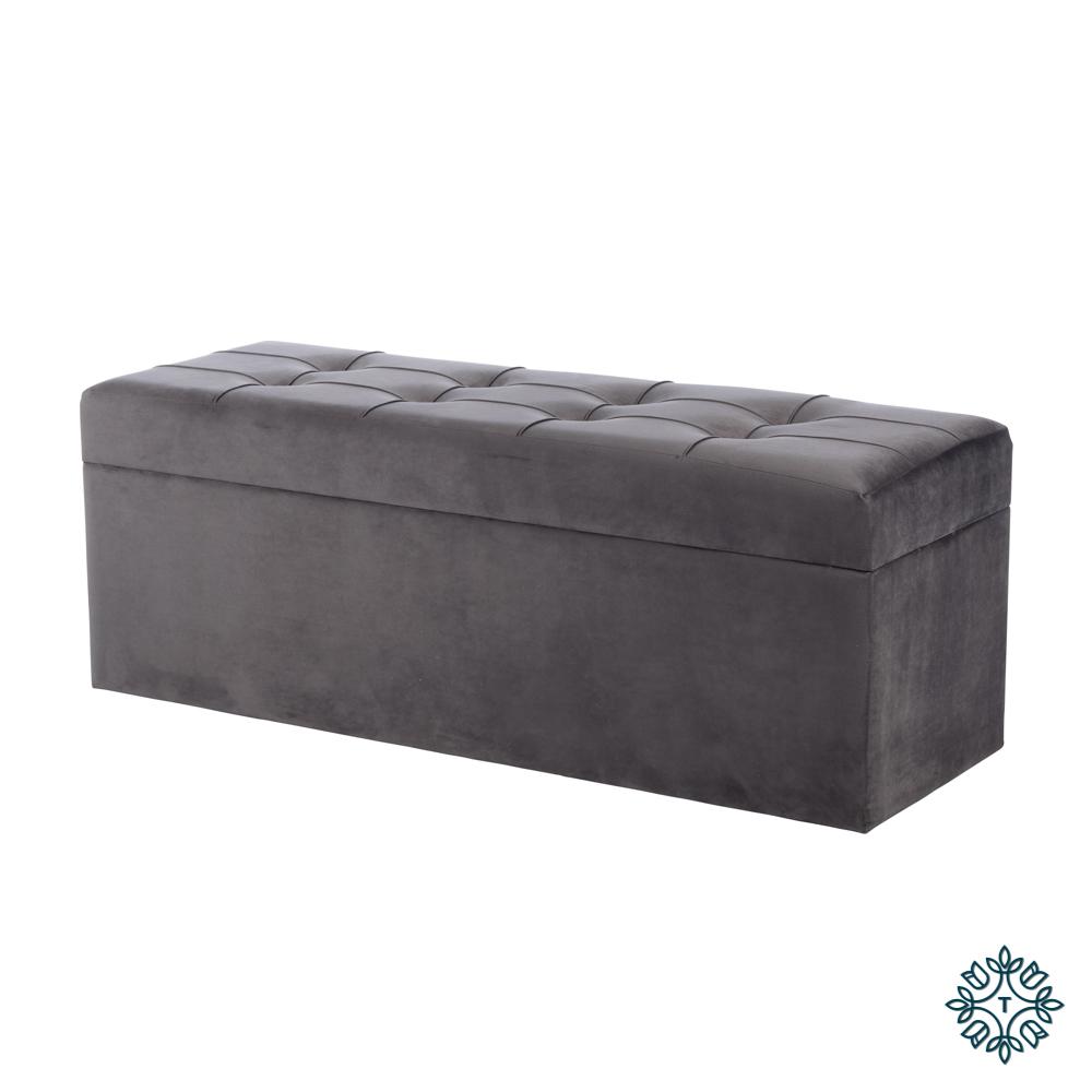 Vienna trunk charcoal grey 120cm