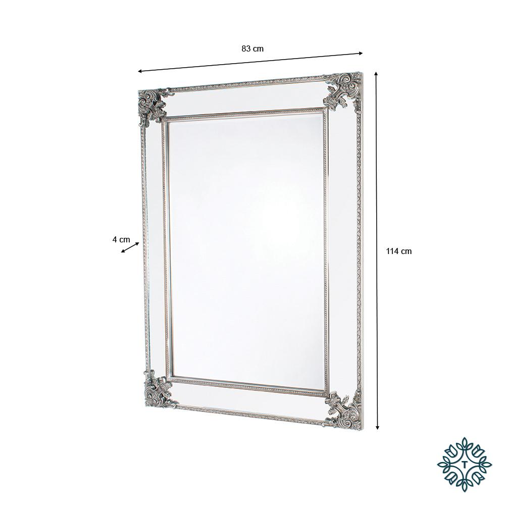 Venetian wall mirror silver large