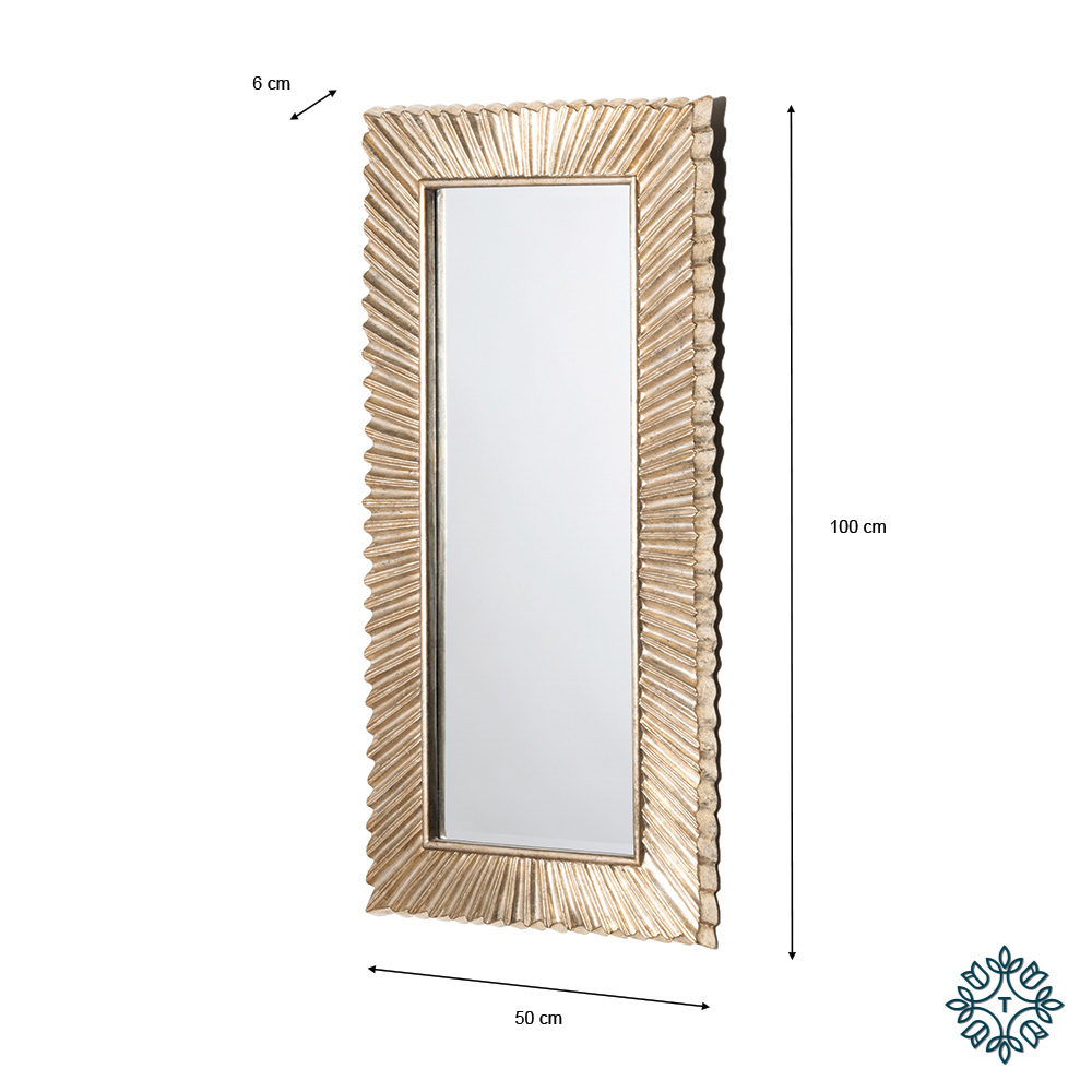 Costes accent mirror country champagne