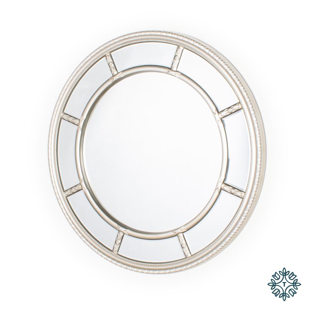 Nautilus wall mirror round champagne