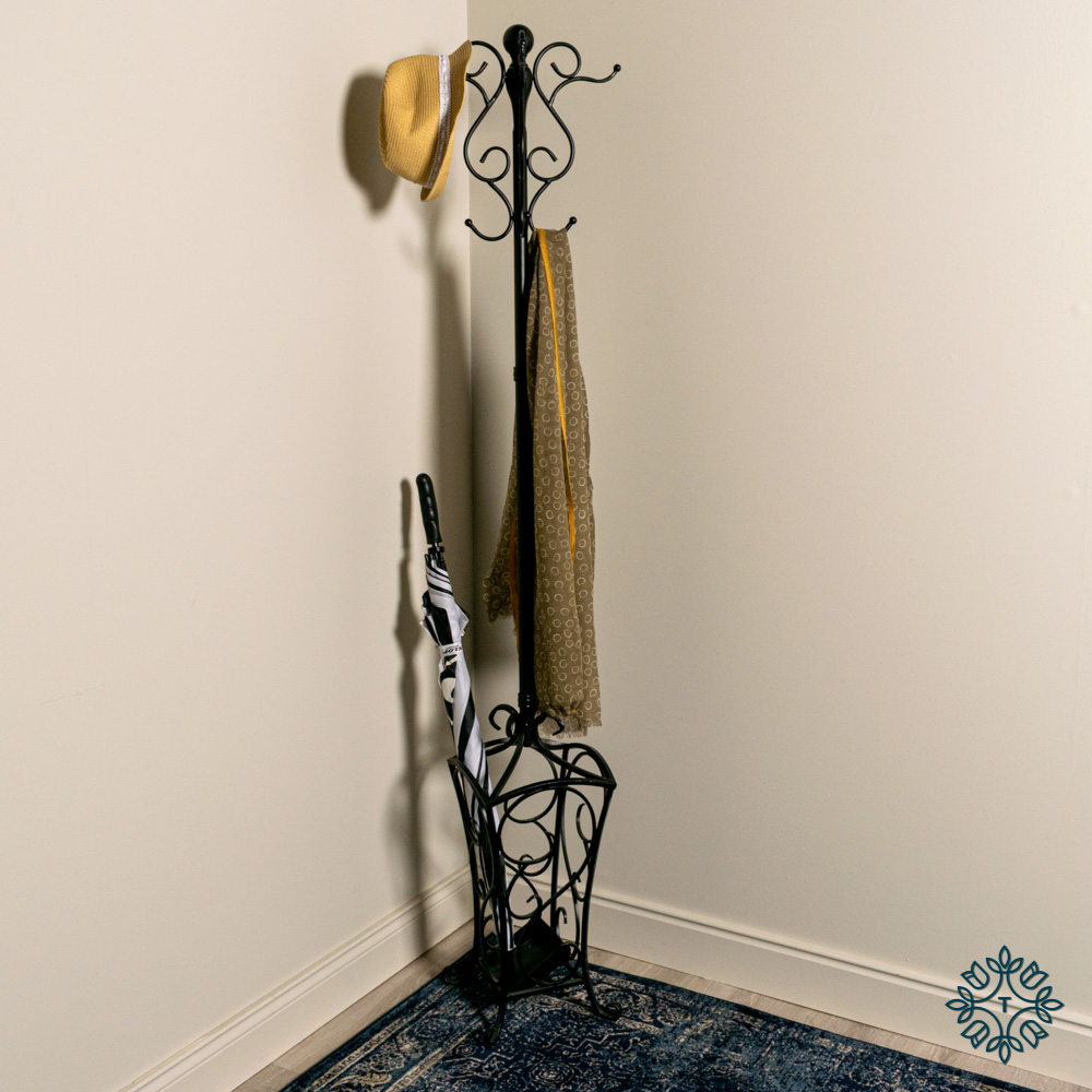 Rio hat and coat stand black