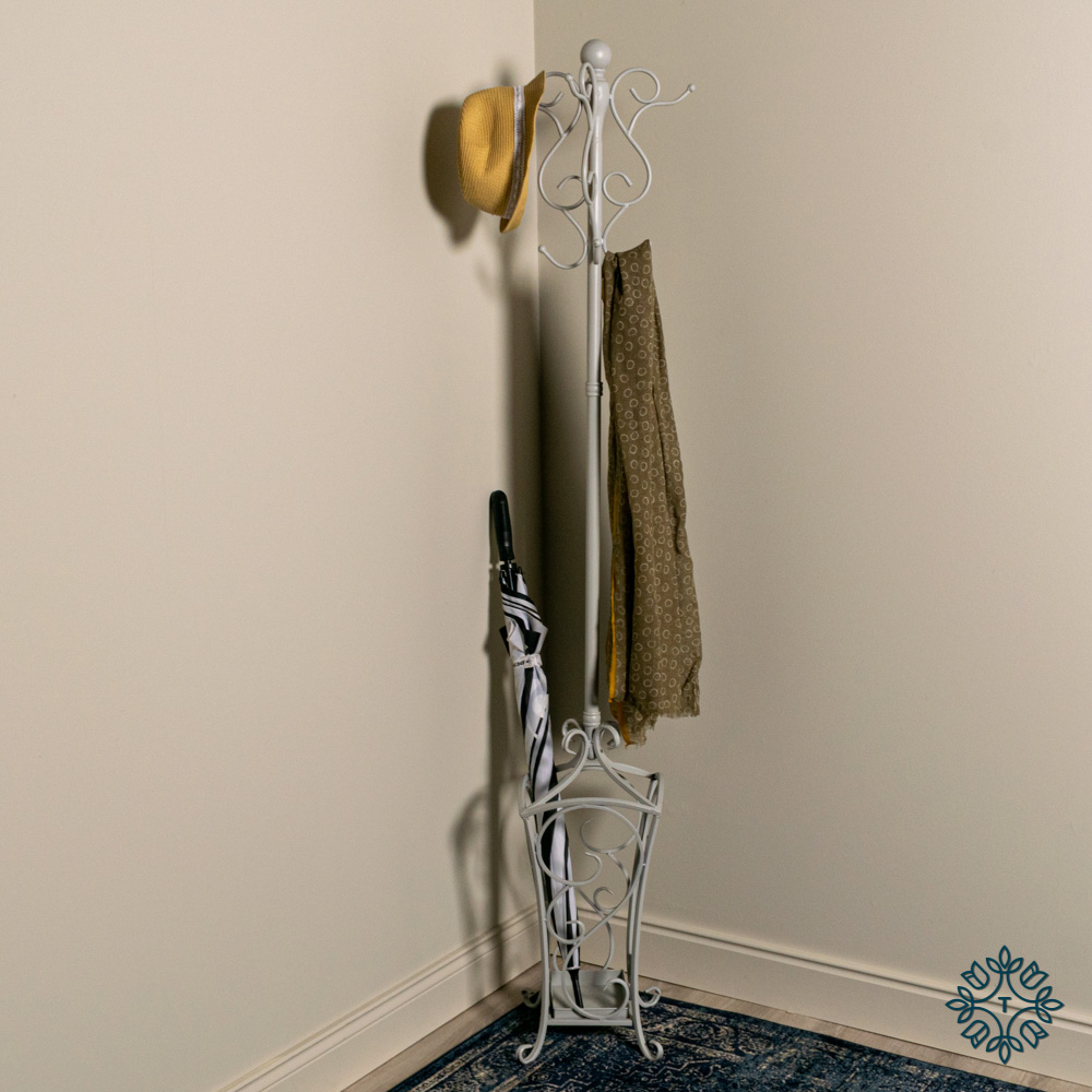 Rio hat and coat stand dove grey