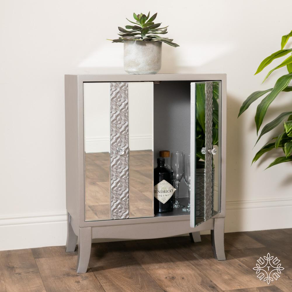 Jade 2 door mirrored cabinet