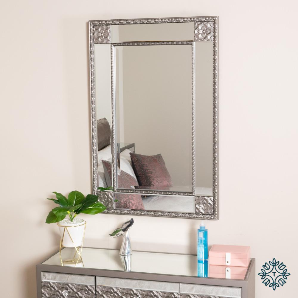 Jade wall mirror 60 x 90cm(overall)
