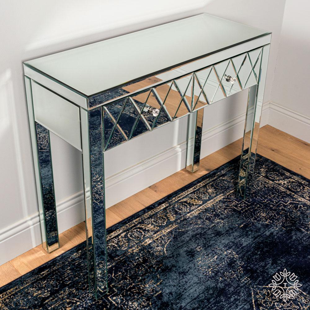 Karson 2 drawer mirrored console