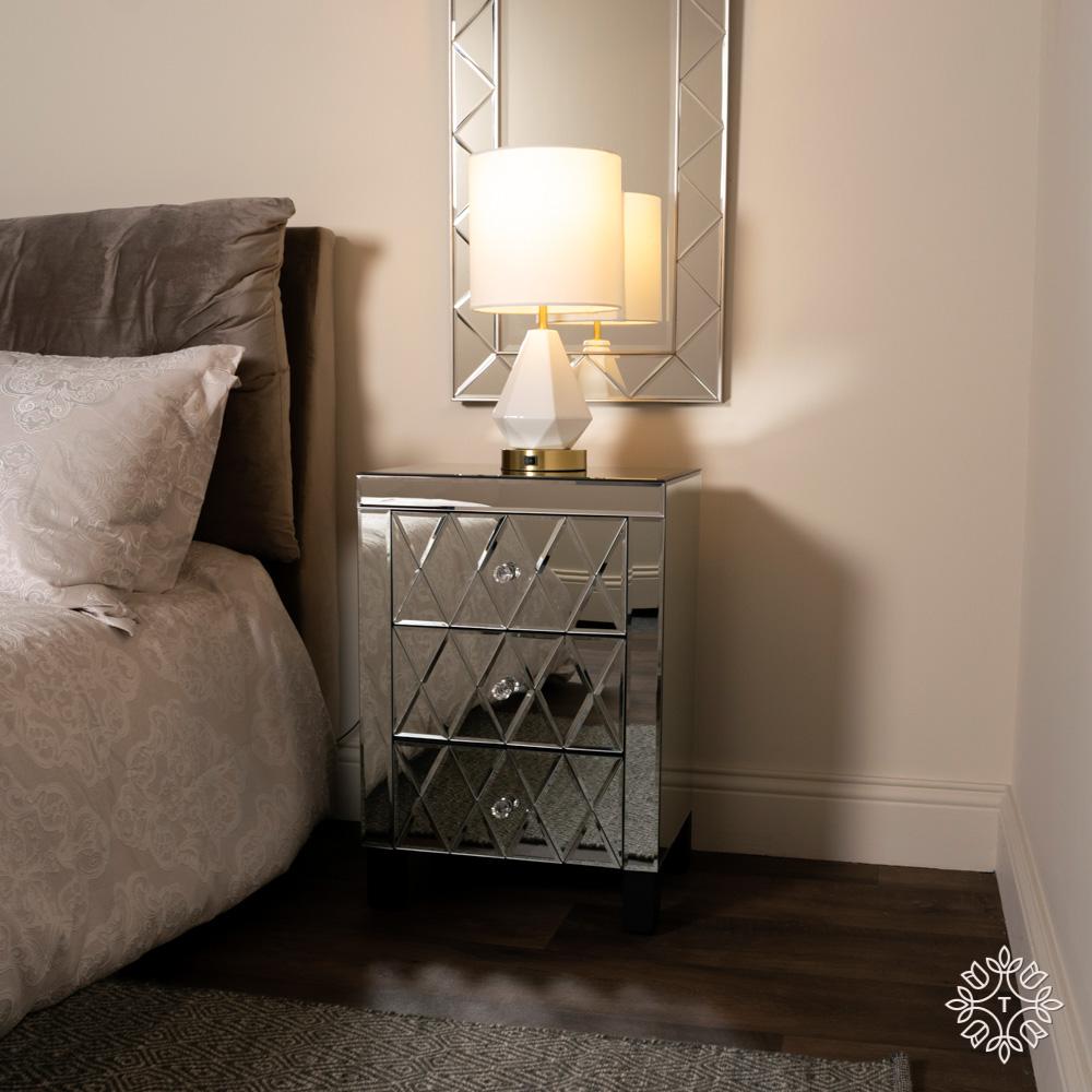 Karson 3 drawer mirrored locker