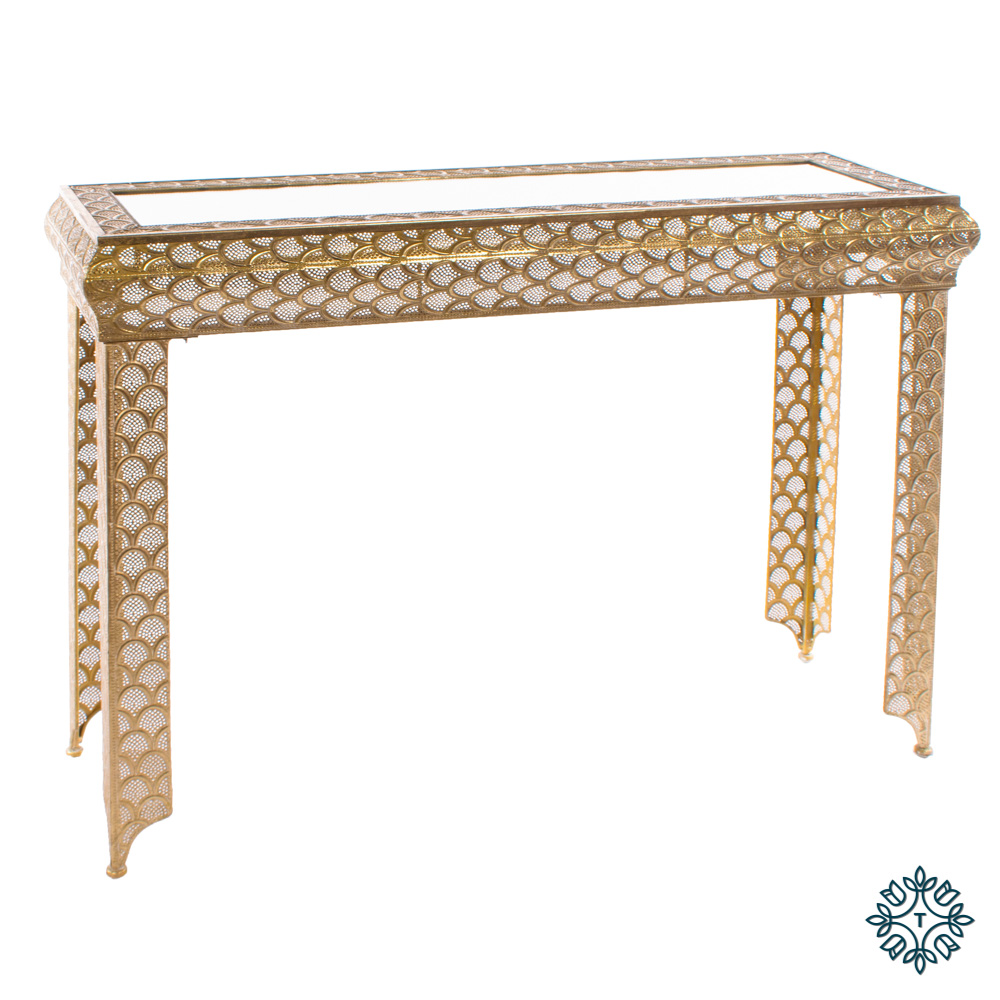 Casablanca console table gold