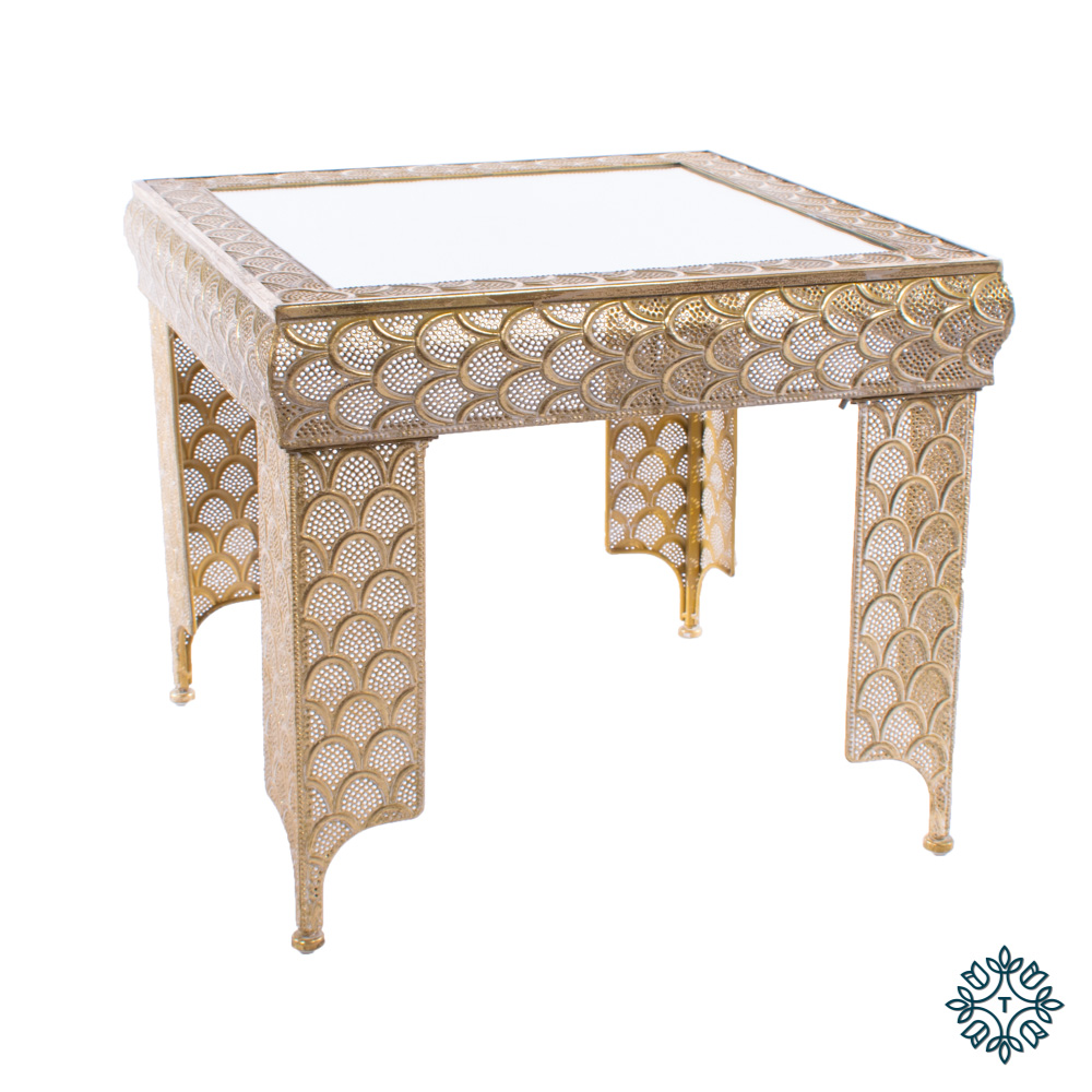 Casablanca side table gold