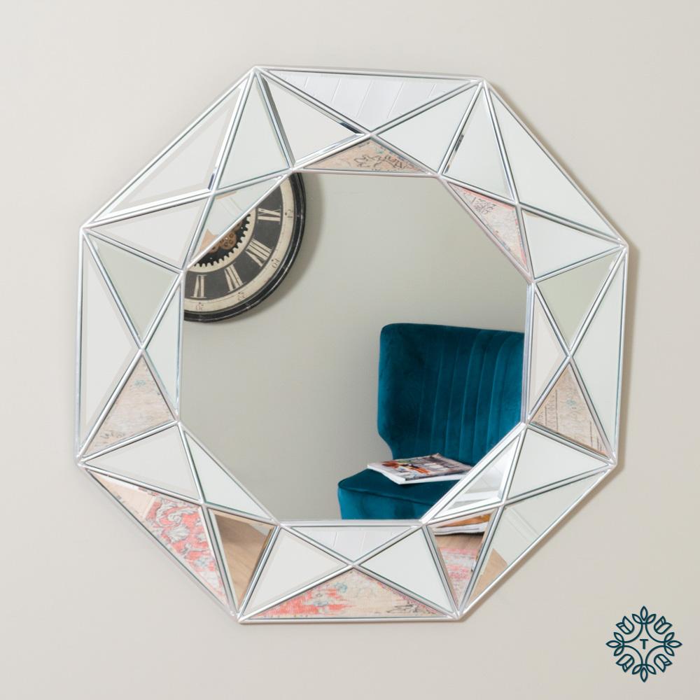 Prism geo mirror silver