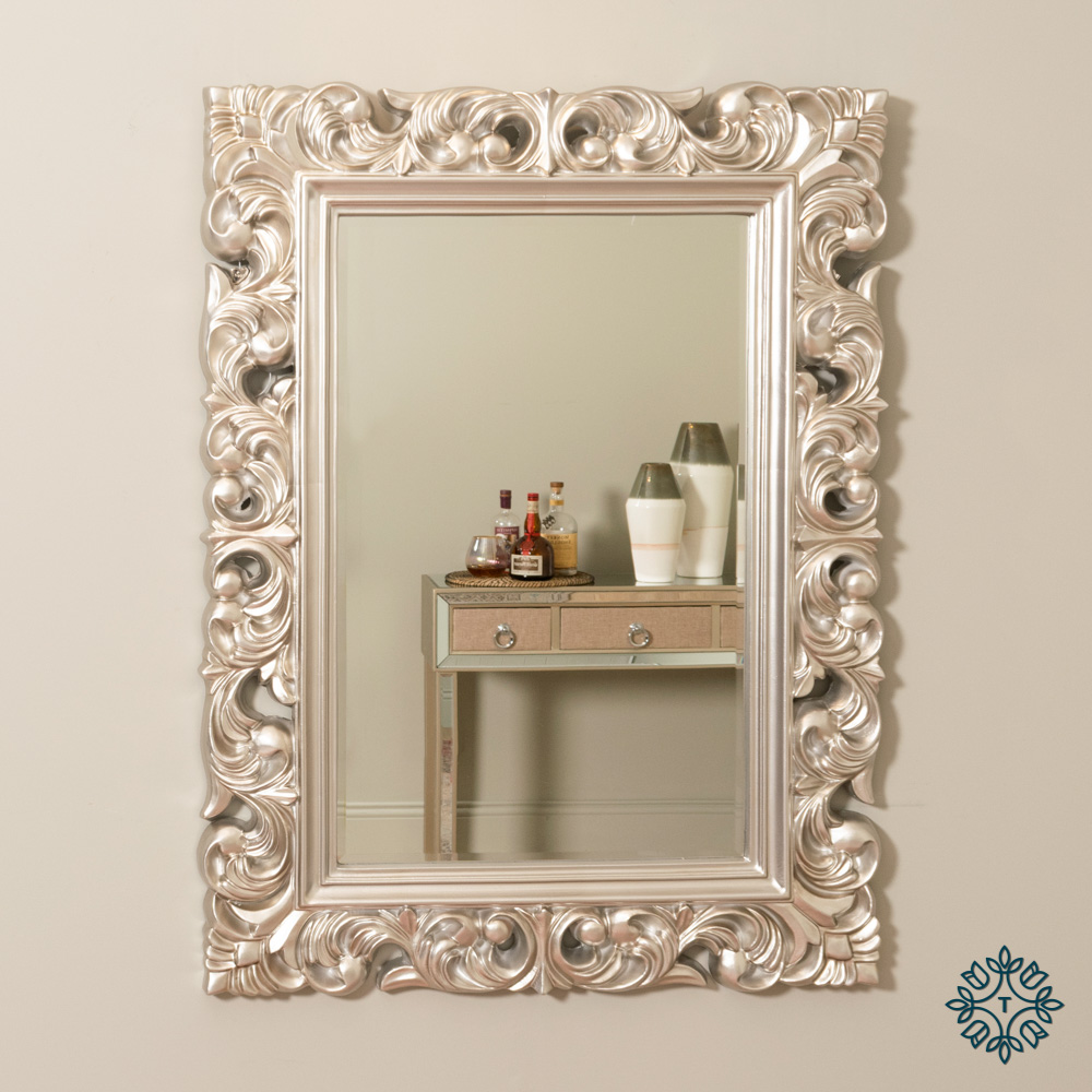 Varina wall mirror champagne