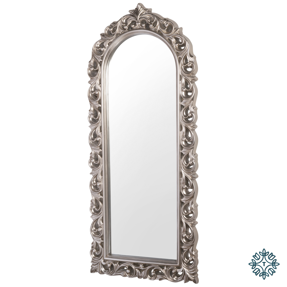 Varina wall mirror arch top champagne