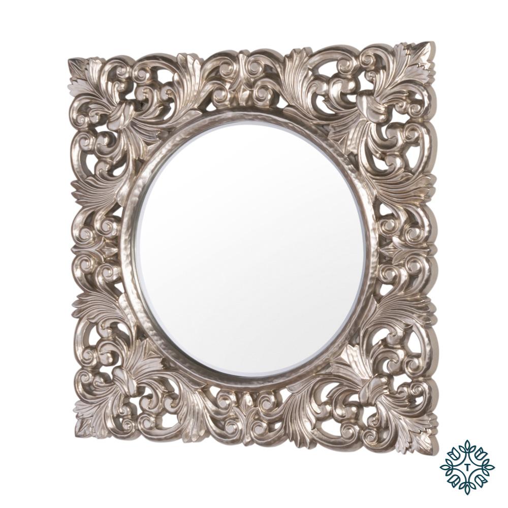 Varina wall mirror square champagne