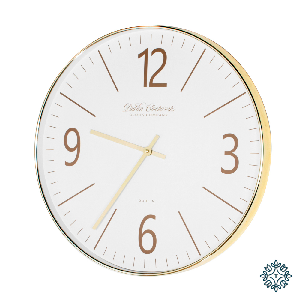 Clockworks gold modern clock
