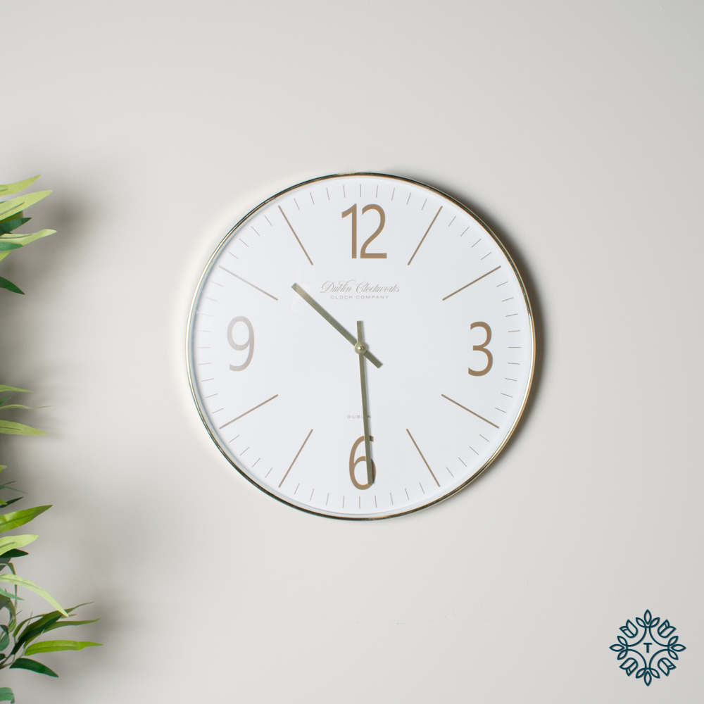 Clockworks gold modern clock