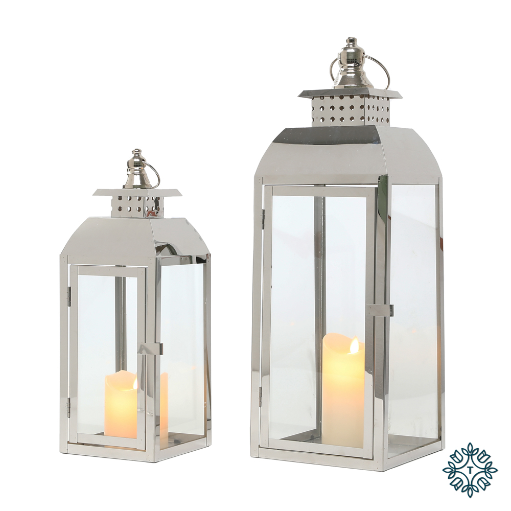 Tiffany s/2 chrome lanterns med/sml