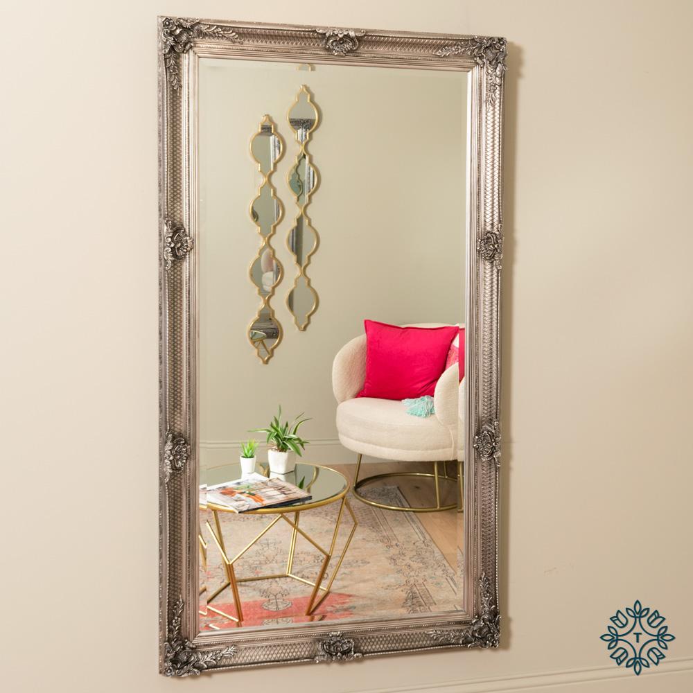 Elise leaner mirror large silver