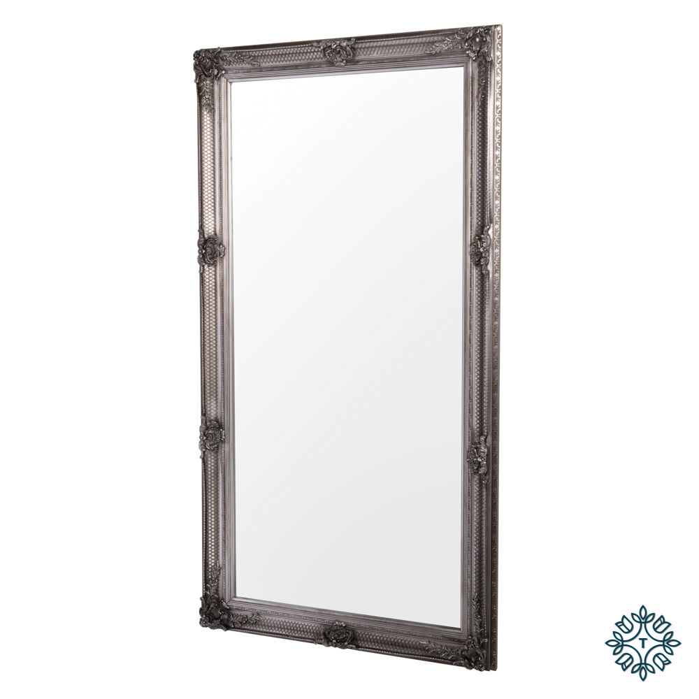 Elise leaner mirror large silver