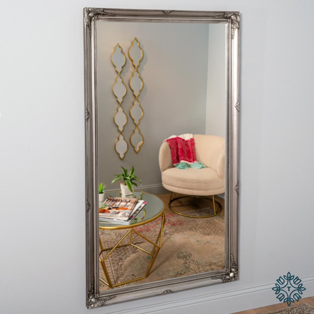 Lyon leaner mirror silver