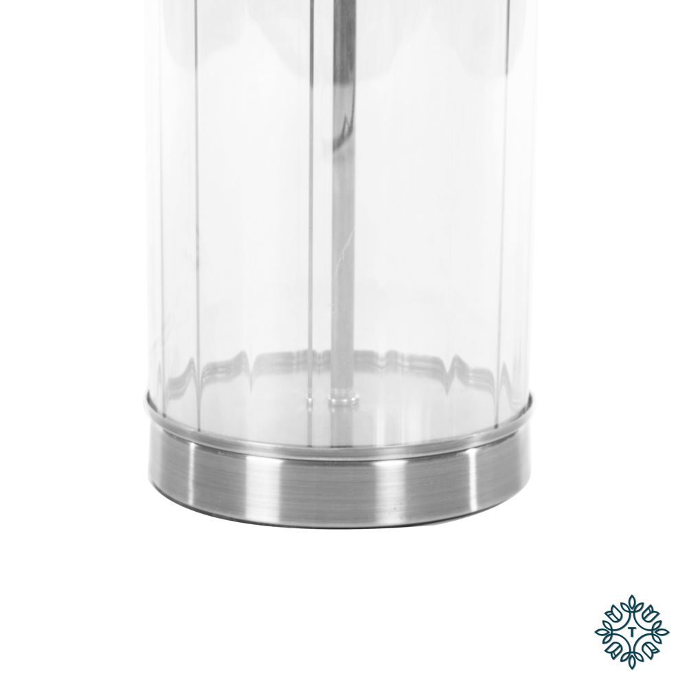 Carlee table lamp satin silver 66cm