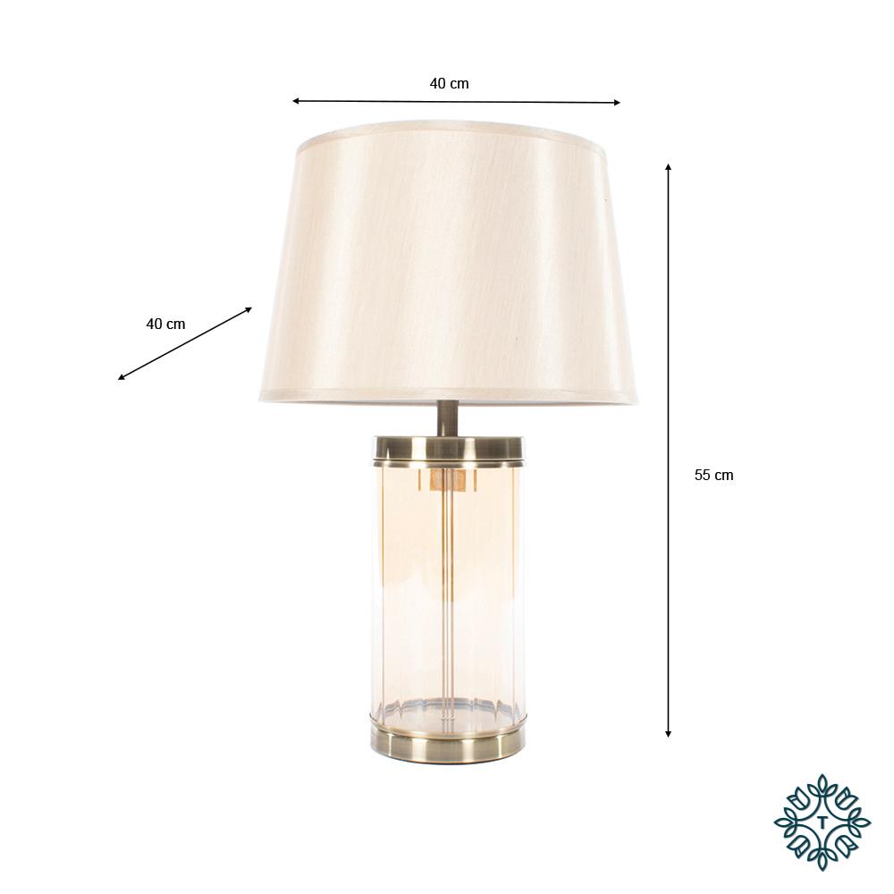 Carlee table lamp bronze 55cm