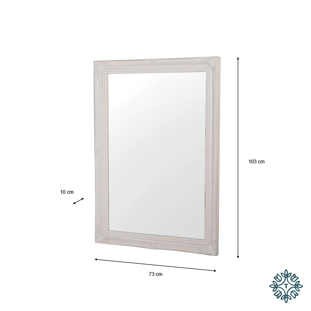 Lyon mirror 60 x 90cm white