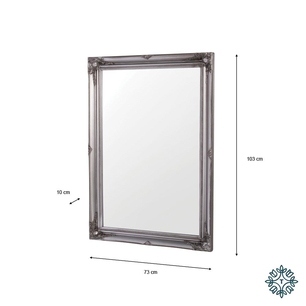 Lyon mirror 60x90cm silver