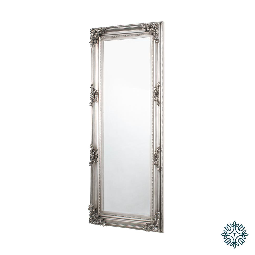 Monique mirror cheval antique silver