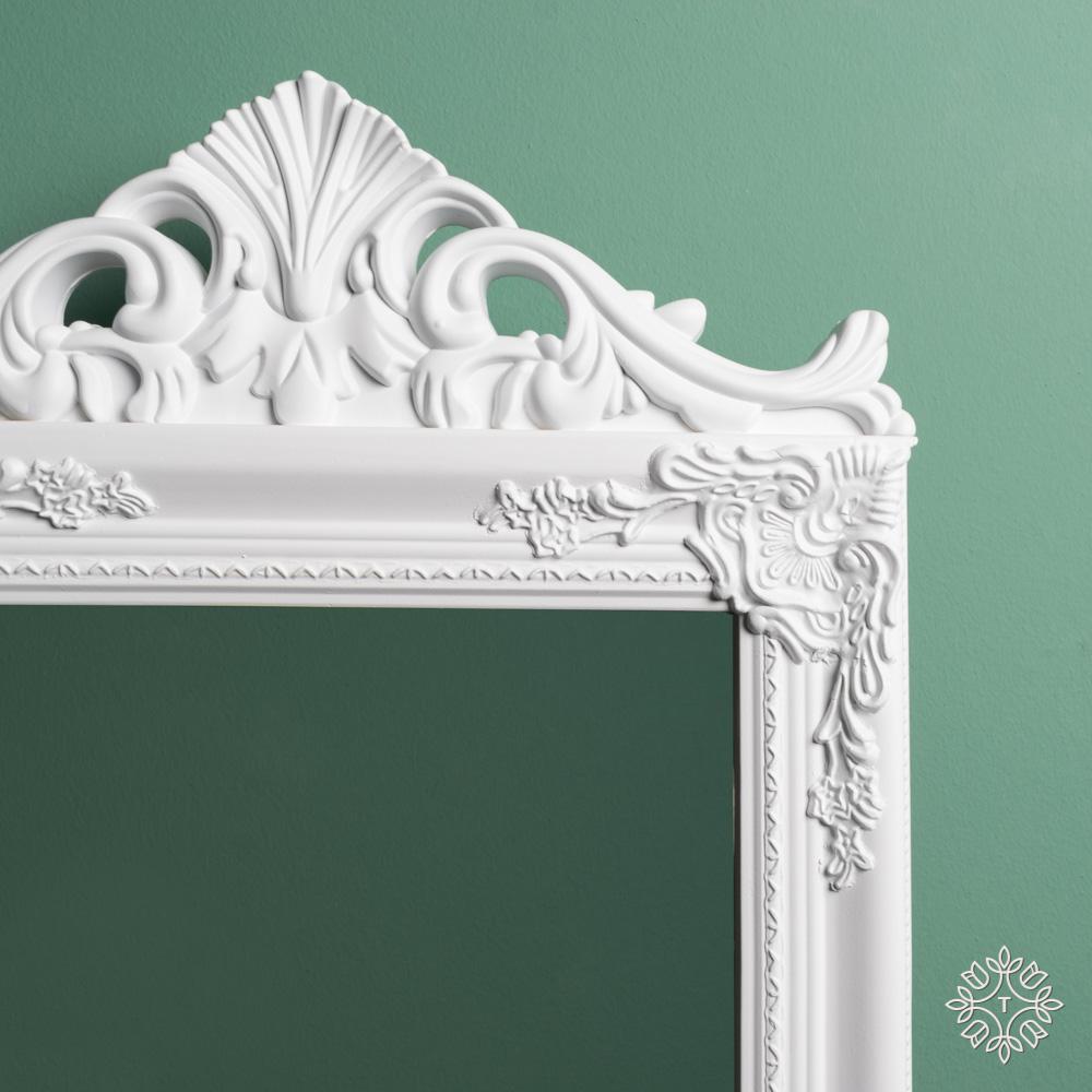 Chateau cheval mirror white