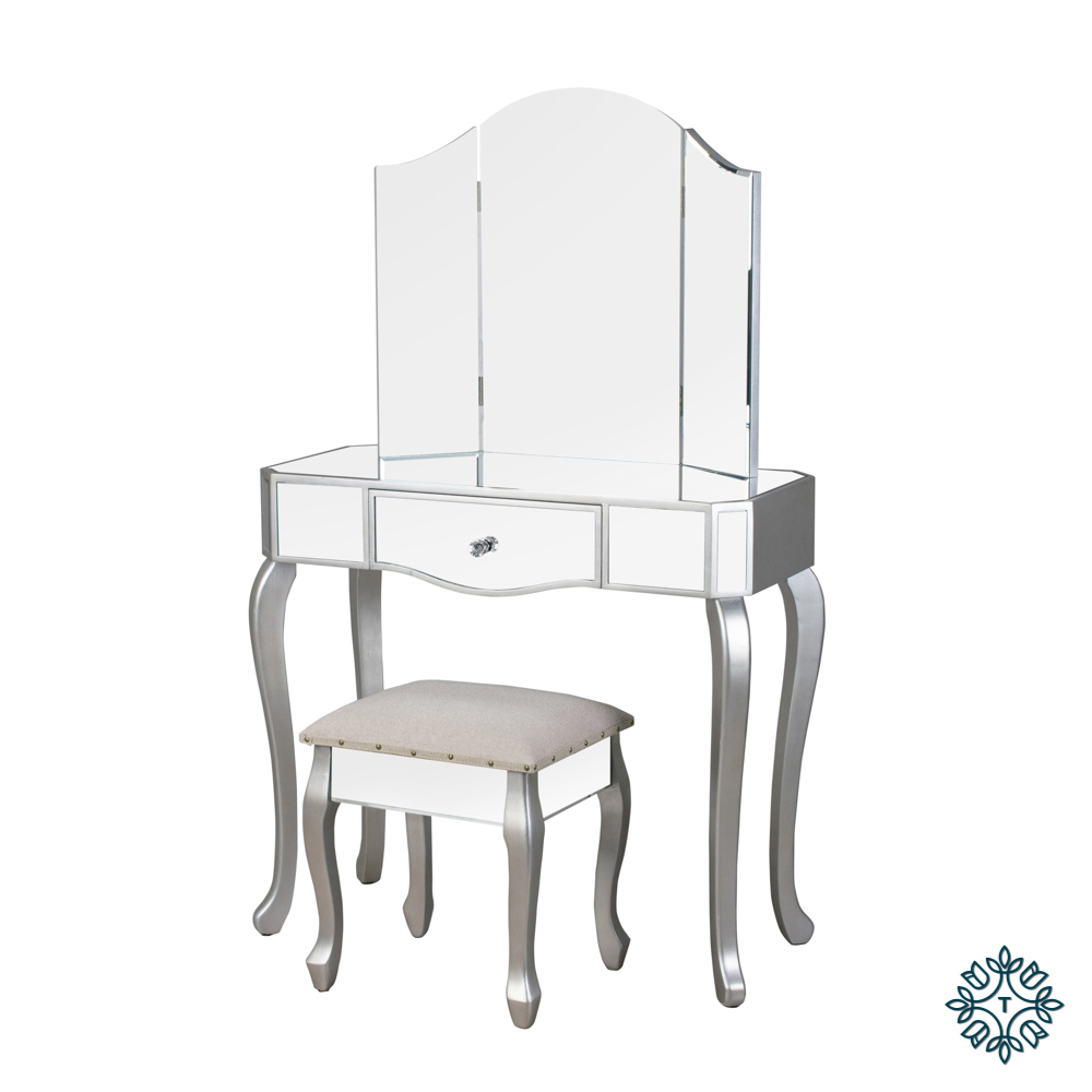 Reflections dressing table and stool
