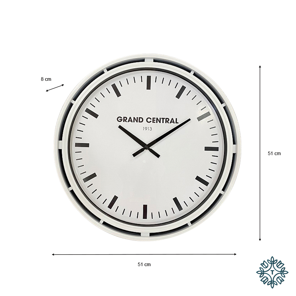 Grand central clock ivory gloss