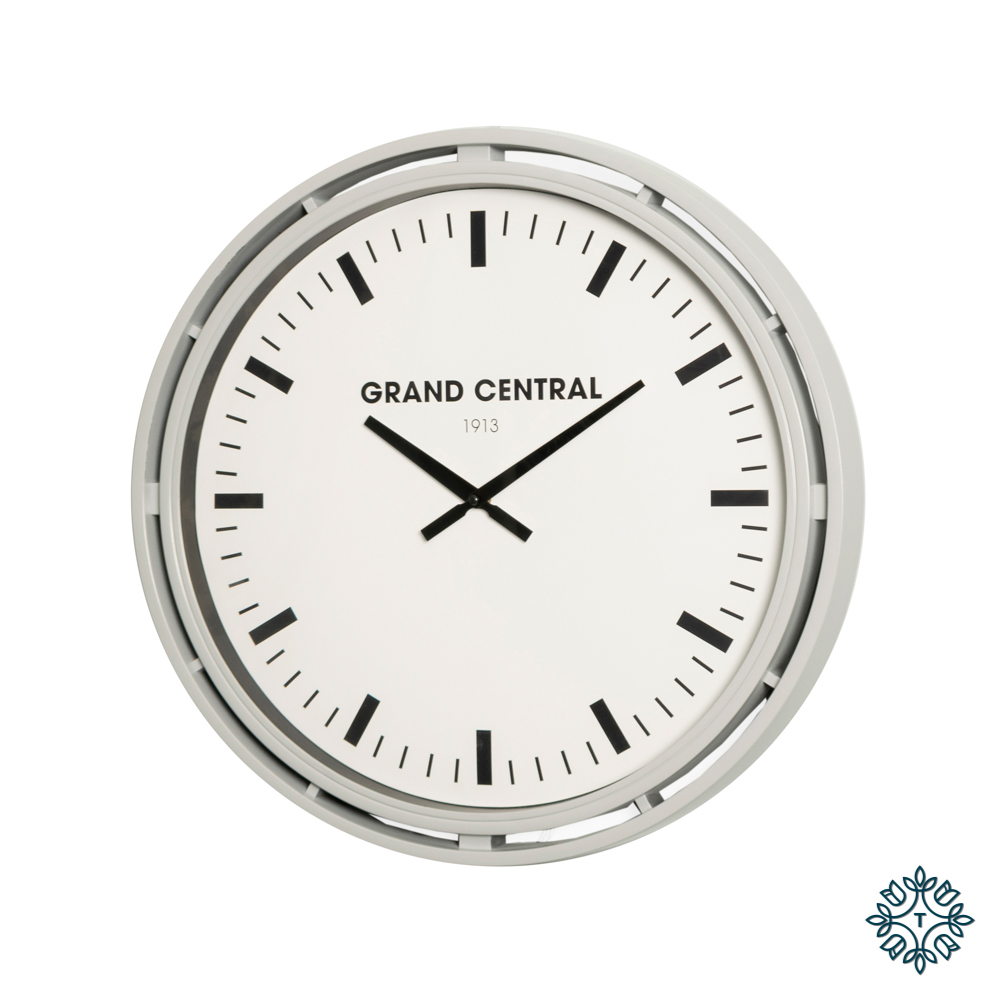 Grand central clock grey gloss