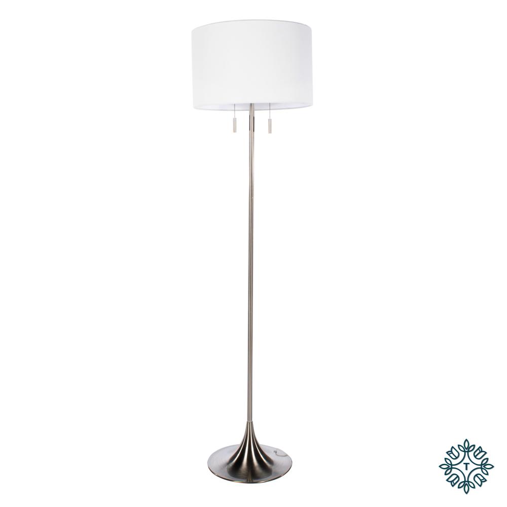 Zaria floor lamp satin silver 161cm