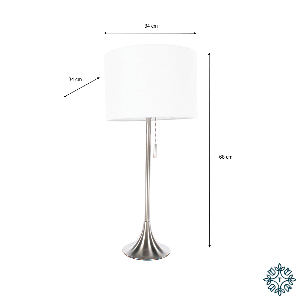 Zara table lamp satin silver 68cm