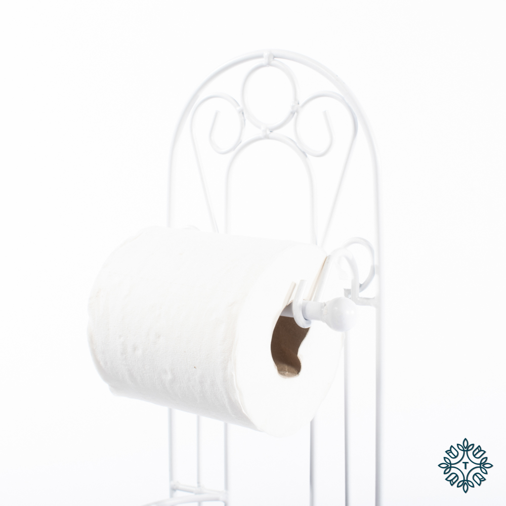 Lorient toilet roll holder white