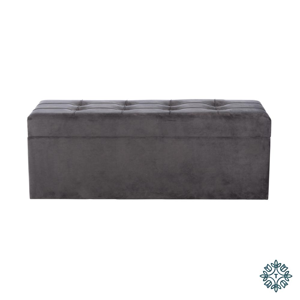 Vienna trunk charcoal grey 114cm