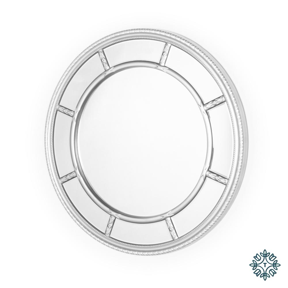 Nautilus wall mirror round silver