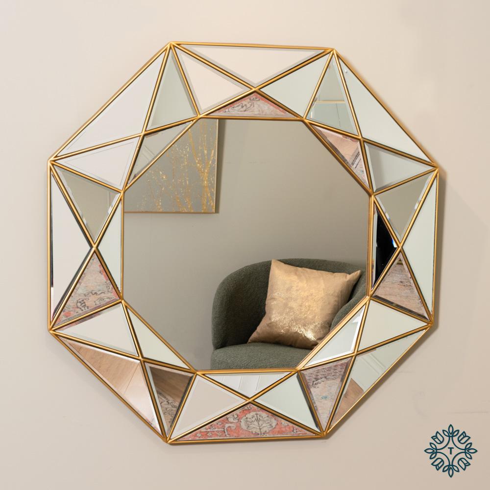 Prism geo mirror gold