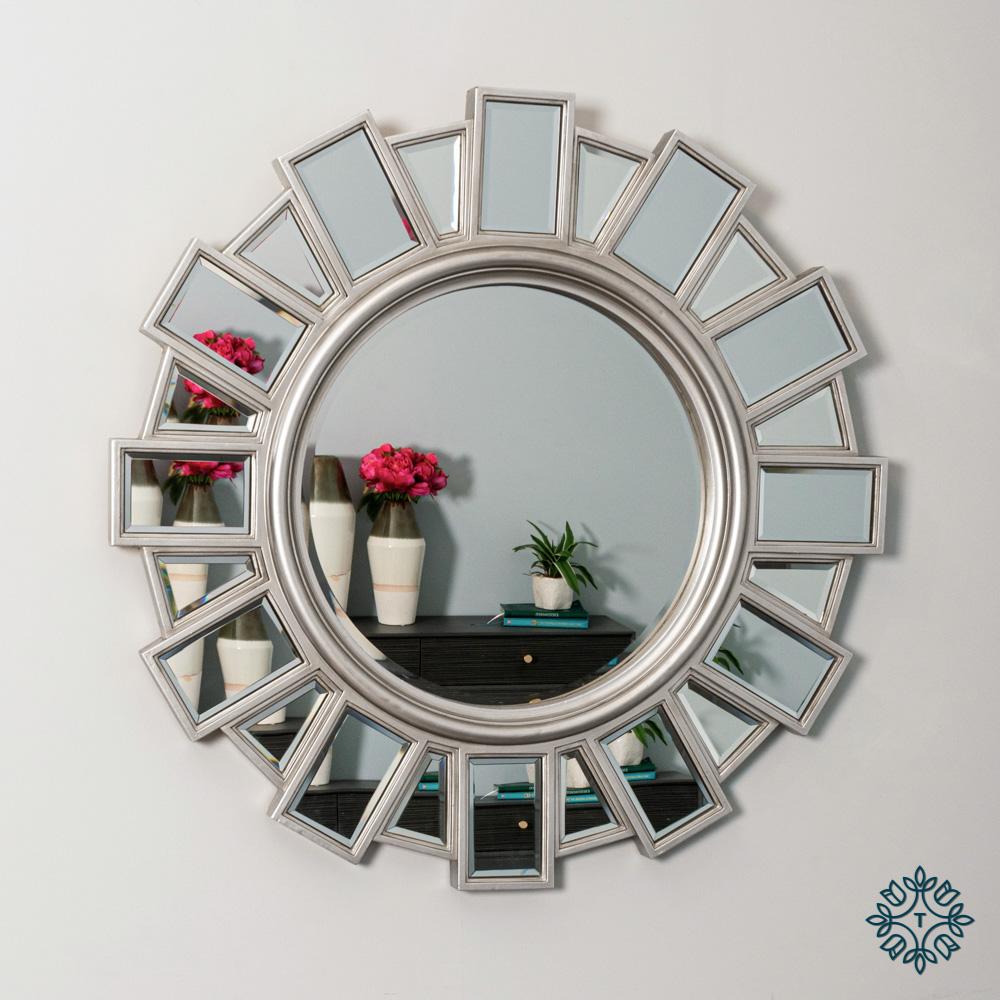 Gemma wall mirror silver