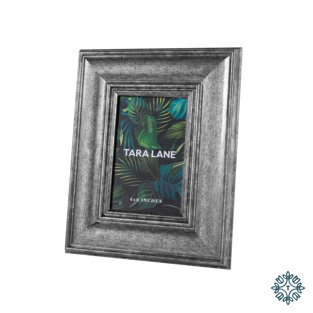 Leo photo frame silver 4x6