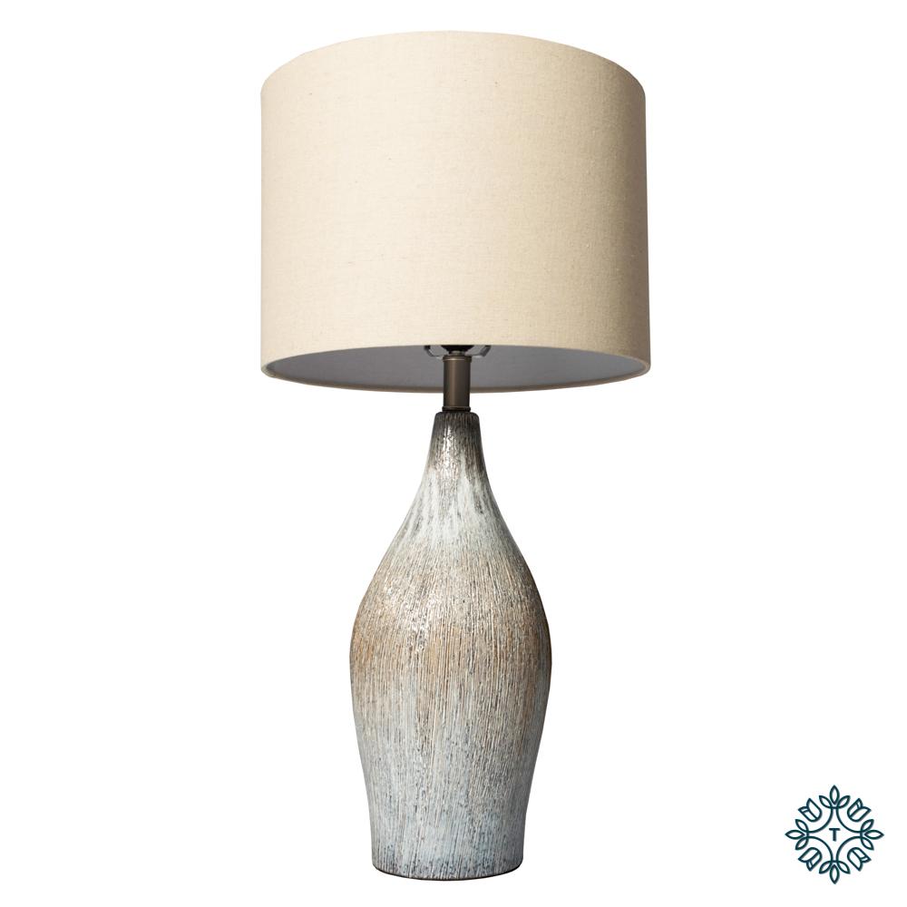 Alena ceramic lamp beige linen shade