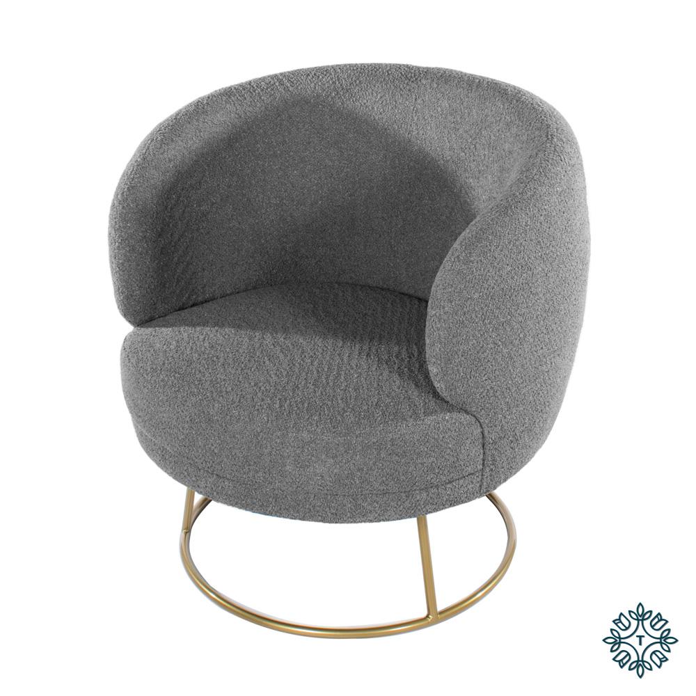 Mona accent chair dove grey