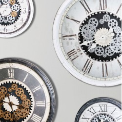 Clocks moving gears